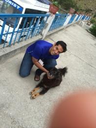 My husband - the dog lover!
