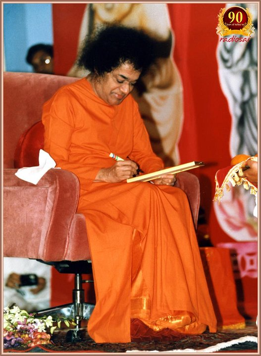 "While looking to add a picture of Swami in this post, I landed up in Radio Sai, where I usually never look for pictures. Guess what I found there - a photo series that says ""When Paramatma decides to pen down""! Oh these little 'Sai'incidences :)"